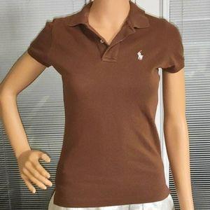 Brown Polo Ralph Lauren Skinny Polo, XS